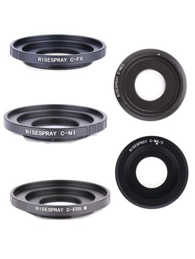 Adaptör halkası C dağı film Lens EOS M FX NEX M4/3 N1 MFT montaj C EOS M C NEX c FX C M4/3 C N1 CCTV Lens montaj adaptörü halkası