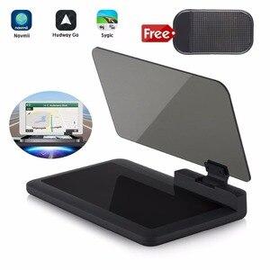 Image 1 - Cabeça up display gps navegação carro traço montar titular do telefone celular filme reflexivo, veículo hud smartphone suporte de montagem para iphone