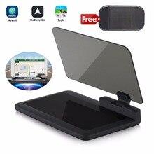 Head up Display GPS Navigation Car Dash Mount Cell Phone Holder Reflective Film, Vehicle HUD Smartphone Holder Mount for iPhone