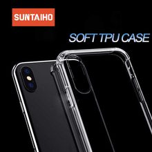 Suntaiho Shockproof Case For iPhone 7 8 6 6s Plus X XS MAX XR Covers Clear Soft Silicone Phone plus
