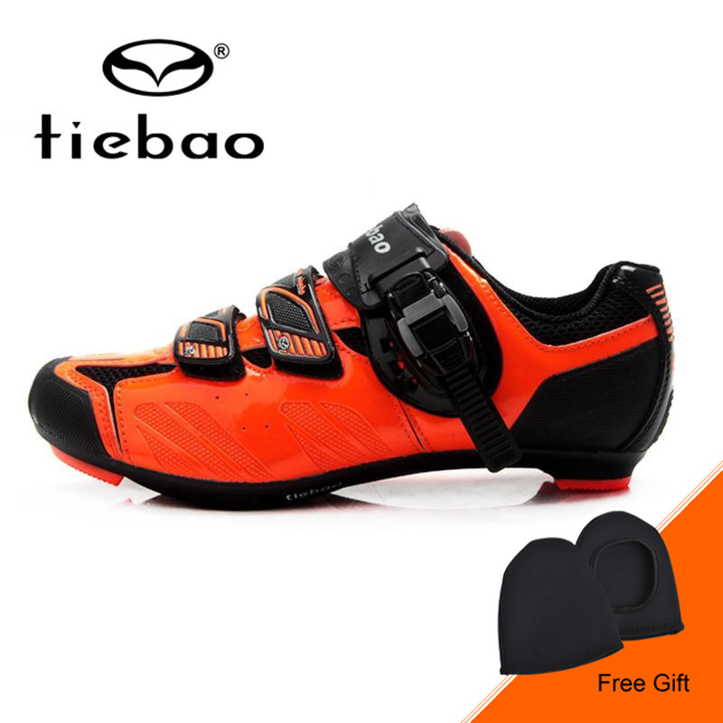 Tiebao New Men Road Bike Shoes Self-locking Cycling Bicycle Shoes Breathable Durable Bike Shoes Non-slip Zapatillas De Ciclismo west biking bike chain wheel 39 53t bicycle crank 170 175mm fit speed 9 mtb road bike cycling bicycle crank