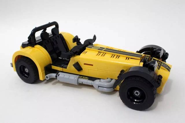 Nuevo 771 unids yile 006 Caterham Seven 620R coche Deportivo de construcción bloques establece Niños juguetes de los ladrillos de regalo de Navidad compatible con 21307 diy