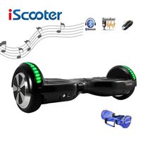 Free Shipping IScooter Hoverboard Bluetooth 6 5inch 2 Wheel Smart Balance Electric Scooter Self Balancing Skateboard