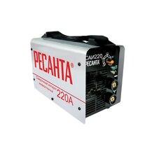Аппарат сварочный инверторный РЕСАНТА САИ 220 (Сварочный ток 10-220 А, макс.диаметр электрода 5 мм, продолжительность включения 70% 220A)
