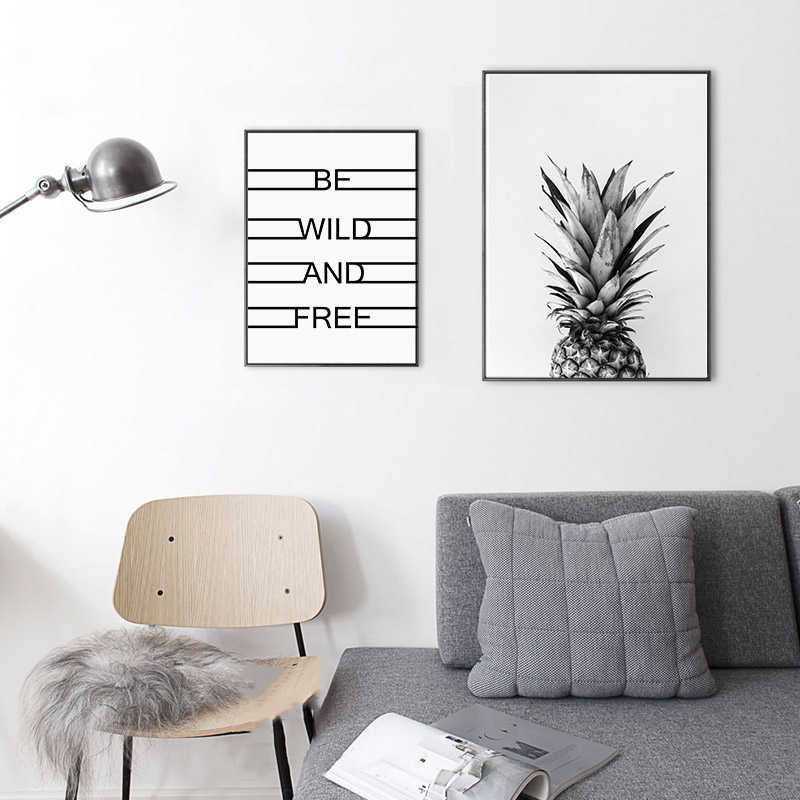 HD Wall Art Modular Fashion Creative Nordic Style Fruit Pineapple Canvas Painting Print Corridor Cafe Home Decor Pictures Poster