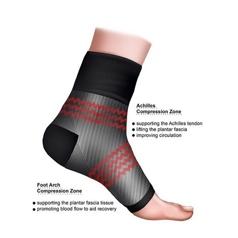 Exercise Sport Sock Unisex Foot Angel Anti Fatigue Arch Heel Plantar Relief Compression Socks