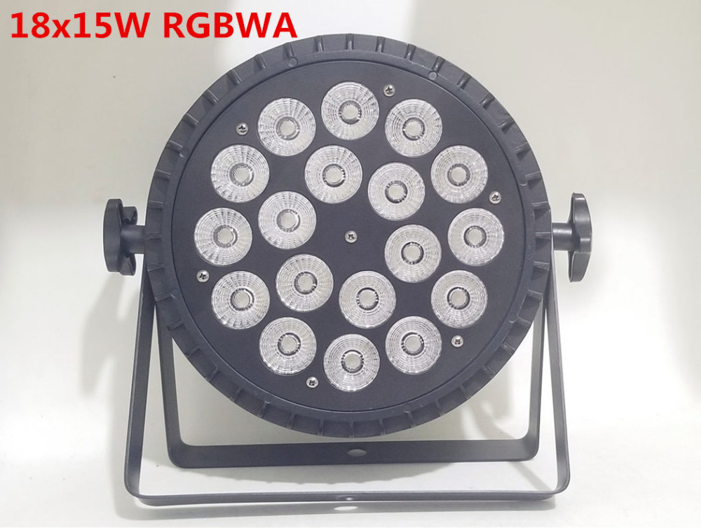 NEW aluminum die casting 18x15W RGBWA 5in1 led par wash par led LED Flat Par Can 18x15W Lighting for Party KTV Disco DJ Lamp bering часы bering 11942 372 коллекция classic