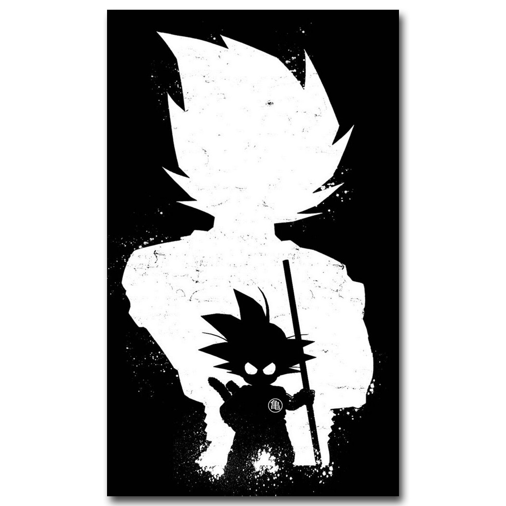 Anime dragon ball z art silk poster print 12x20 24x40inch new japanese anime wall pictures for home wall decor in painting calligraphy from home garden