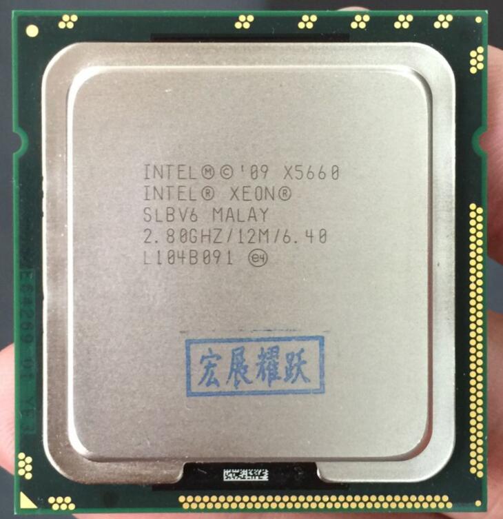 Процессор Intel Xeon X5660 ПК сервер Процессор 12 м LGA 1366 Server Процессор