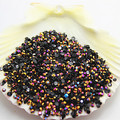 SS6 5000pcs/pack Non Hot-Fix Resin Gold Rose Magic color AB jelly stone For DIY Nail Art gems
