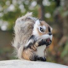 Woodland Furred Animal Replica Mini Fake Squirrel Toys
