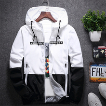 New Spring Autumn Bomber Hooded Jacket Men Casual Slim Patchwork Windbreaker Jacket Male Outwear Coat Brand Clothing Plus Size