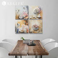 100% Handmde Triptych Modular Paintings Room Decorative Unframed Combined Wall Art for Bedroom