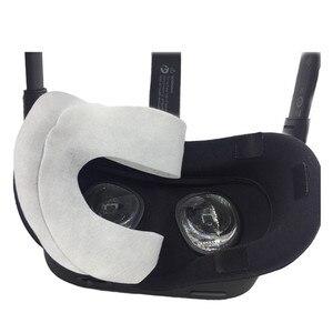 Image 4 - 100Pcs VR חד פעמי עיניים מסכת כיסוי עבור צוהר קרע S/קרע CV1/quest מציאות מדומה VR אוזניות כיסוי כרית