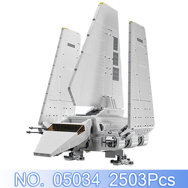 Lepin 05034 2503Pcs Star Wars Figure Imperial Shuttle Model Building Kits Blocks Bricks Compatible With 10212 Set Kids Toys Gift 2503pcs large star wars sets imperial shuttle spacecraft the space battle building block toys kits best technic toys for kids