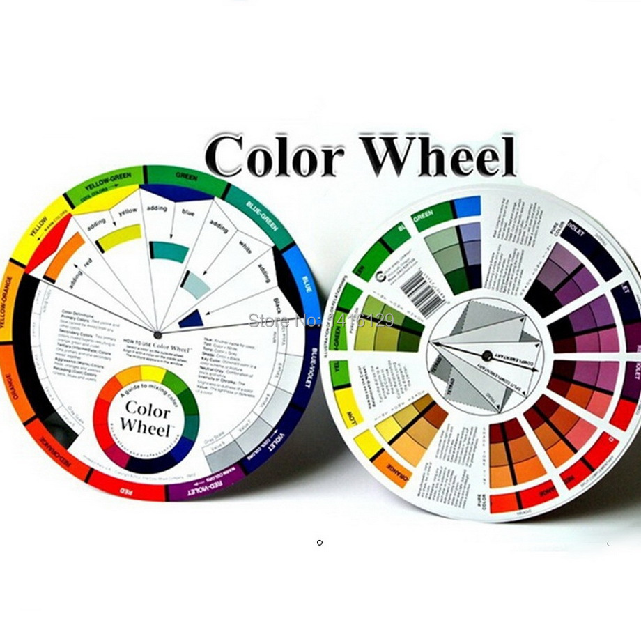 Color wheel online - Freeshipping 10 Sets Tattoo Permanent Makeup Accessories Color Wheel Micro Pigment Color Wheel Guide China