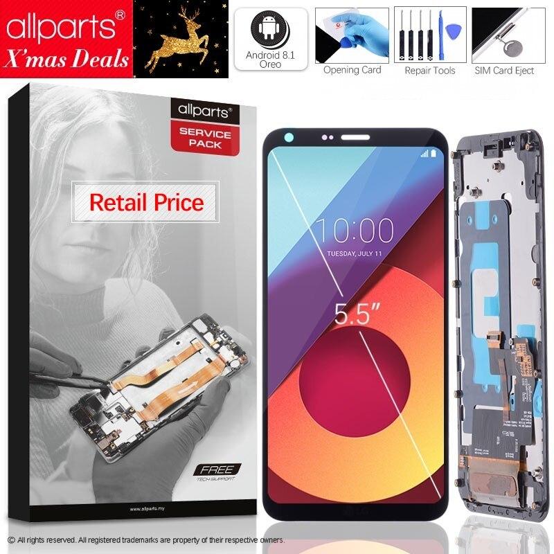 5.5 2160x1080 ips Оригинальныйтачскриндисплейэкрандля LG Q6 сенсорныйдисплейОригиналLCDстачскриномврамкезаменазапчасти G6 Черный