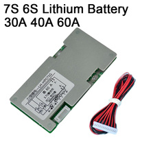 DYKB 6S 7S 24V 30A 40A 60A 리튬 배터리 보호 보드 인버터 W 밸런스 회로 7 셀 Lipo 리튬 이온 팩 BMS PCB PCM