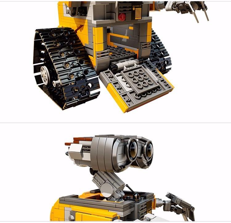 687Pcs Lepin 16003 Idea Robot WALL E Building Set Kit Minifigure Toy for Children WALL-E 21303 Educational Bricks Christmas gift (7)