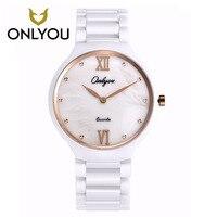 ONLYOU Woman Watch 2017 Luxury Brand Ceramics Band Watch 5bar Waterproof Quartz Wristwatch Fashion Dress Wrist Watches For Women