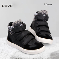 UOVO High Quality Winter Spring Autumn Children Shoes Warm Faux Fur Boys Girls Unisex Comfortable Casual
