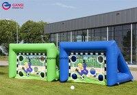 Открытый съемки двери надувные Футбол Kick игры/надувные цели футбол/надувные Футбол цель