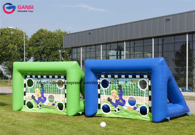 Outdoor shooting door inflatable soccer kick games / inflatable football goal / inflatable soccer goal inflatable football field shooting soccer goal kicking gate game l6mxh3m for children kids party sport games toy