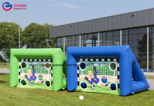 Outdoor shooting door inflatable soccer kick games / football goal