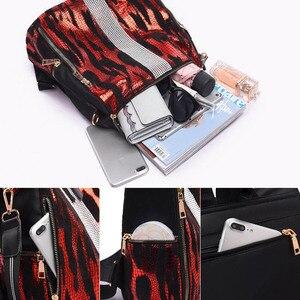 Image 5 - 동물 인쇄 배낭 여성 2020 학교 가방 10 대 소녀에 대 한 빈티지 다이아몬드 Bagpack 대용량 여행 배낭 XA445H
