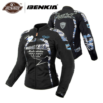 BENKIA Women Motorcycle Jacket Summer jaqueta motoqueiro Breathable Mesh Moto Jacket Racing Riding Jacket Motorbike Clothing