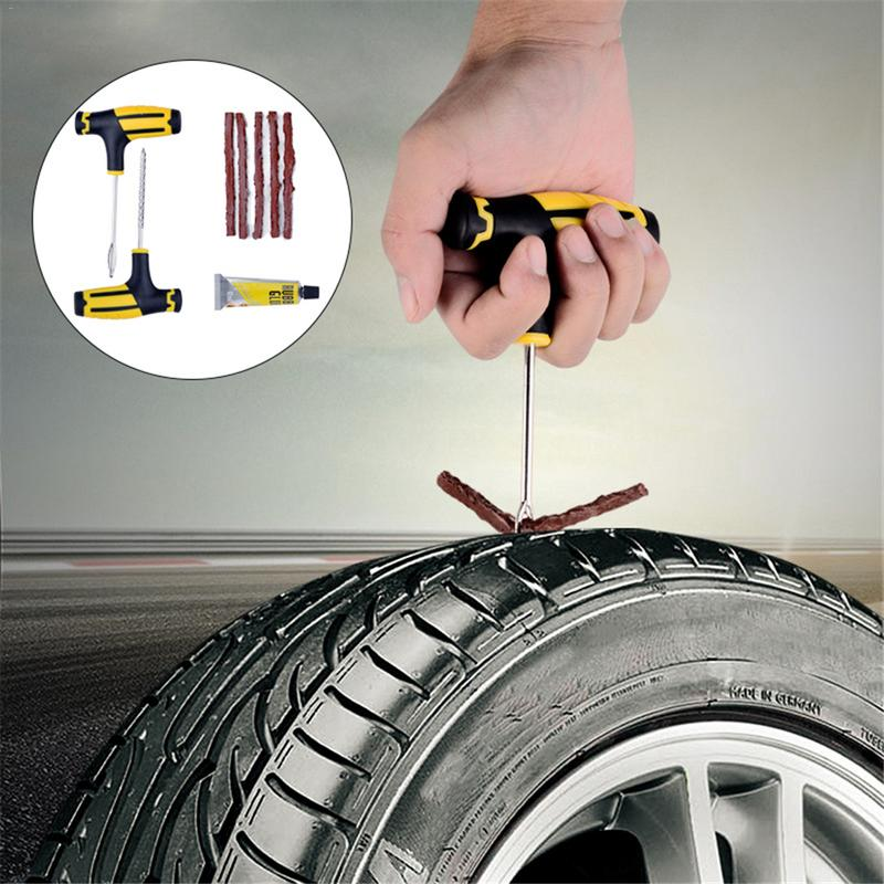 FREE SHIPPING Tubeless Emergency Car Tire Puncture Repair Tool Kit Car