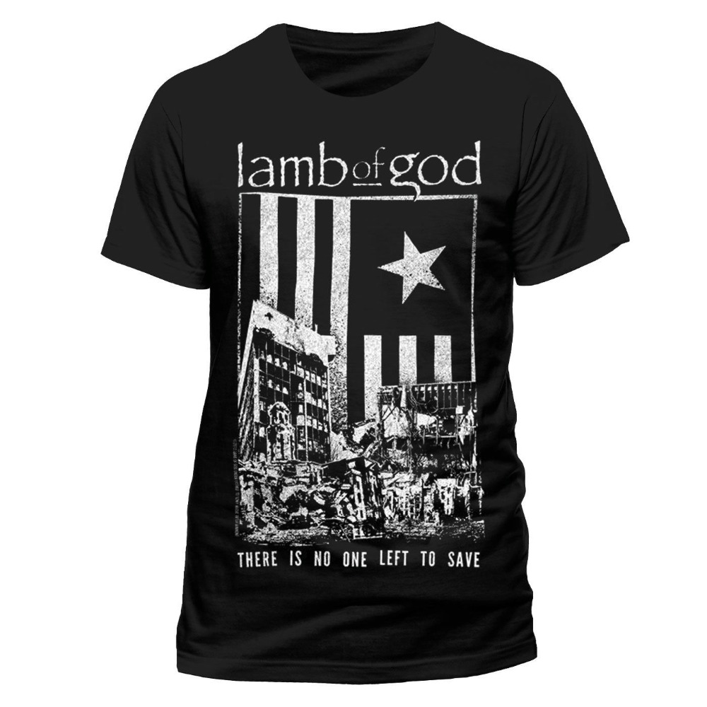 2018 Latest Fashion Lamb Of God - No One Left To Save T-Shirt Herren Cotton t shirt slogans Customized shirts for mens