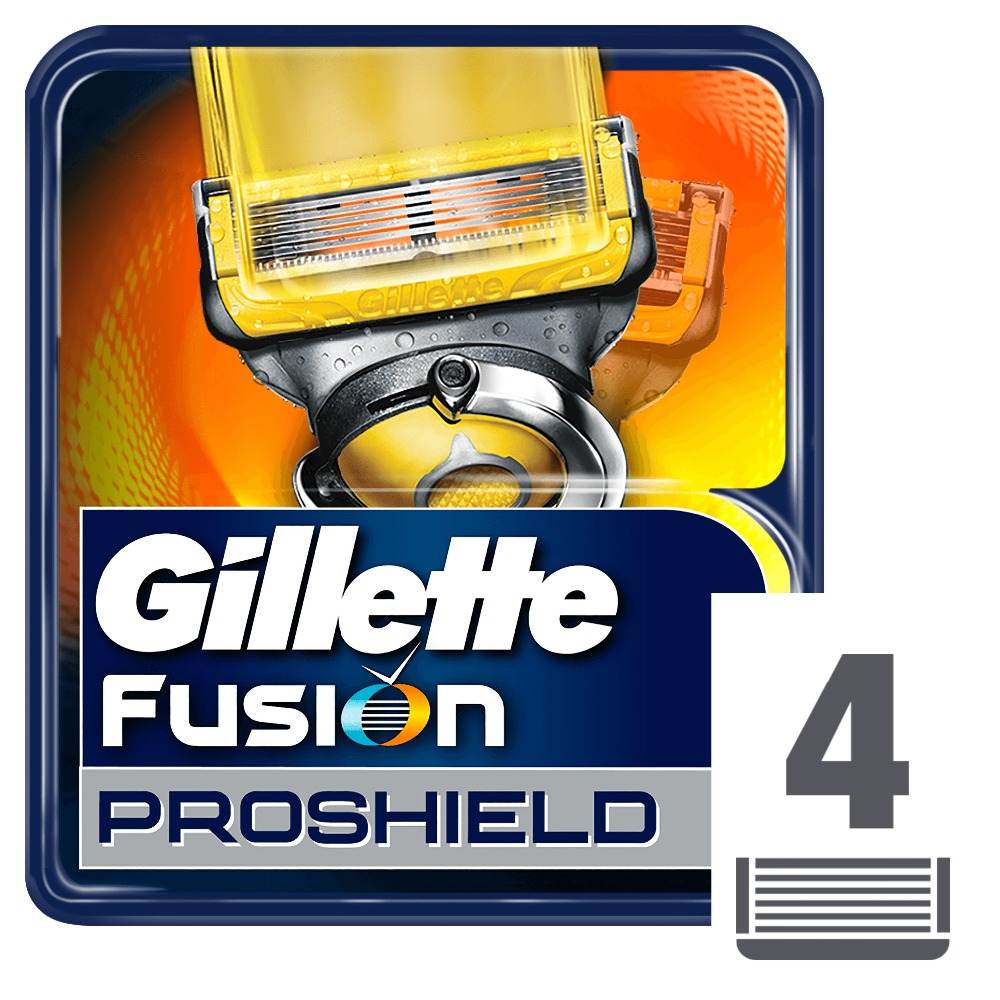 Removable Razor Blades for Men Gillette Fusion ProShield Blade for Shaving 4 Replaceable Cassettes Shaving Fusion Cartridge gift set gillette fusion proshield chill machine with 1 interchangeable cassette 2 interchangeable cassettes shaving gel 2 i