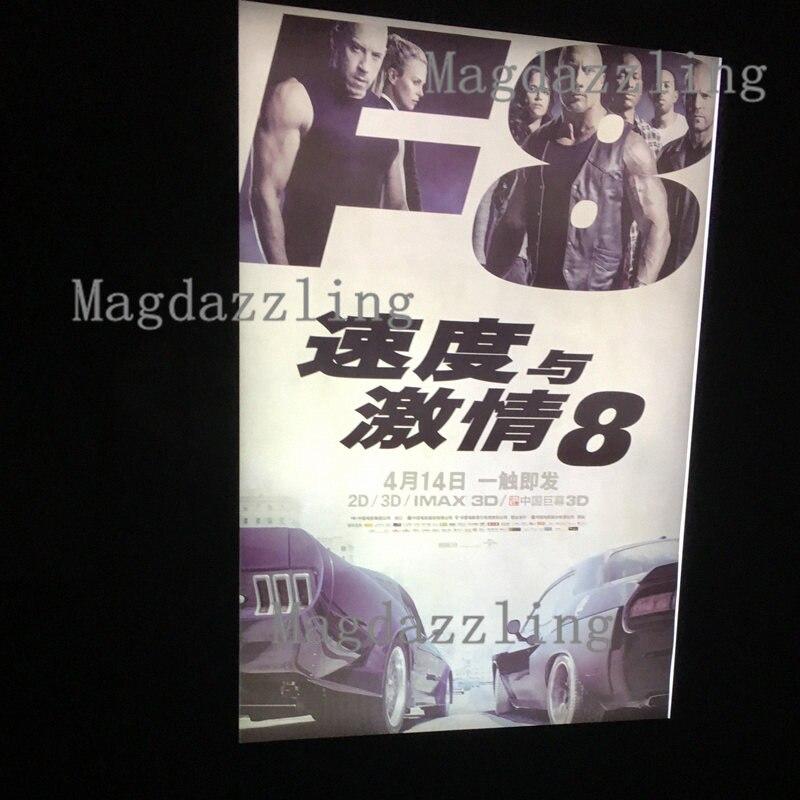 A1 negro Delgado Snap Marcos LED iluminado Movie poster Marcos para ...
