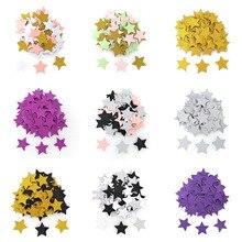 100 шт., разноцветные блестящие настольные конфетти в форме звезд