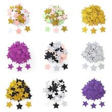100pcs Colorful Glitter Star Shape Table Confetti Birthday Wedding Decor Cardboard Confetti Kids Baby Shower Party Supplies