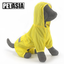 PETASIA Dog Raincoat Waterproof Hooded Dog Clothes Rain Coat Cloak Camouflage For Small large Puppy Pet Rainy XS XXL with hood(China)