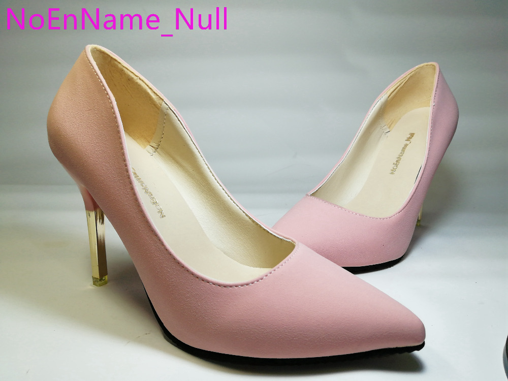 2016 summer elegant ol single shoes shallow mouth pointed toe high-heeled shoes thin heels sexy pink women's high-heeled shoes