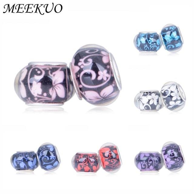 cc58936cce90 € 0.8 |2 pzas unids/lote dijes Original al por menor moda 6 cuentas de  resina de colores dijes Fit Pandora charms pulseras collares para mujeres  DIY ...