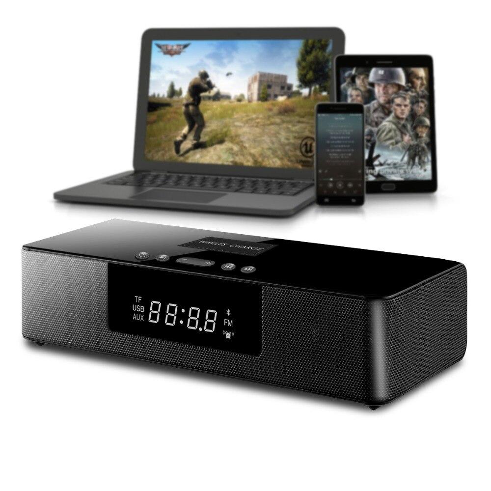 Przenośny głośnik bezprzewodowy bluetooth soundbar do telewizora muzyki Stereo potężny kolumna kina domowego Bar TF USB zegar wyświetlacz LCD w Soundbary od Elektronika użytkowa na AliExpress - 11.11_Double 11Singles' Day 1