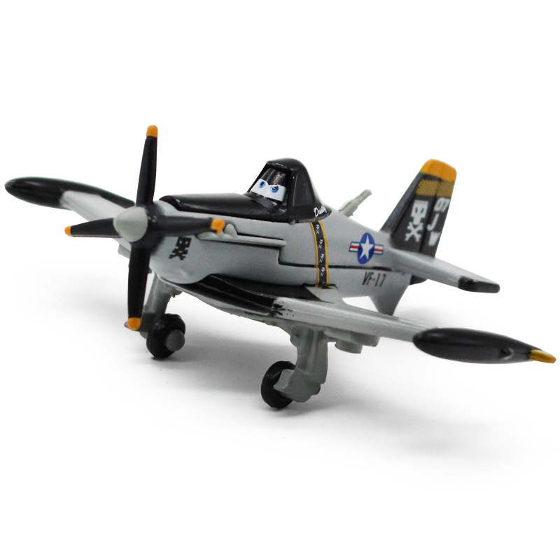 Disney Pixar Cars 2 Planes No.7 Jolly Wrenches Dusty Crophopper Metal Diecast 1:55 Alloy Classic Toy Plane Model For Children