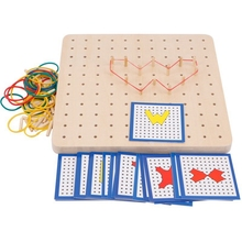 Baby Toy Montessori Rubber Tie Nail Boards With Cards Childhood Education Preschool Kids
