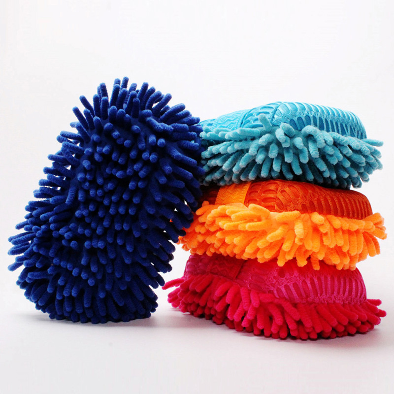 Ultrafine Fiber Chenille Anthozoan Car Wash Gloves Brushes Microfiber Car Motorcycle Washer Car Care Cleaning Brushes household chenille microfiber flexible duster dirt cleaning wash brush tool blue