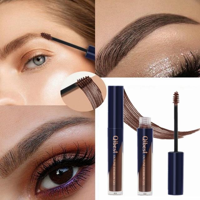 5 Colors Tattoo Makeup Eyebrow Liquid Brows Pigment Tint Long Lasting Natural Waterproof Dye Eyebrows Black Brown Eyes Cosmetics