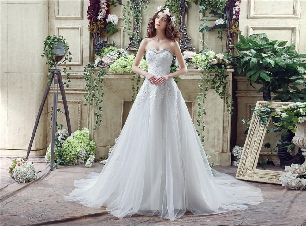 Elegant Cheap In Stock A Line Sweetheart Wedding Dress
