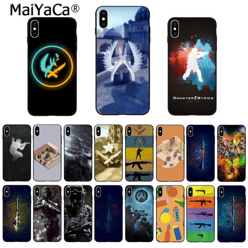 Maiyaca Counter Strike Cs Go Game Novelty Fundas Phone Case Cover For Apple Iphone 8 7 6 6s Plus X Xs Xr Xsmax 5 5s Se Cover Cool In Summer And Warm In Winter Cellphones & Telecommunications