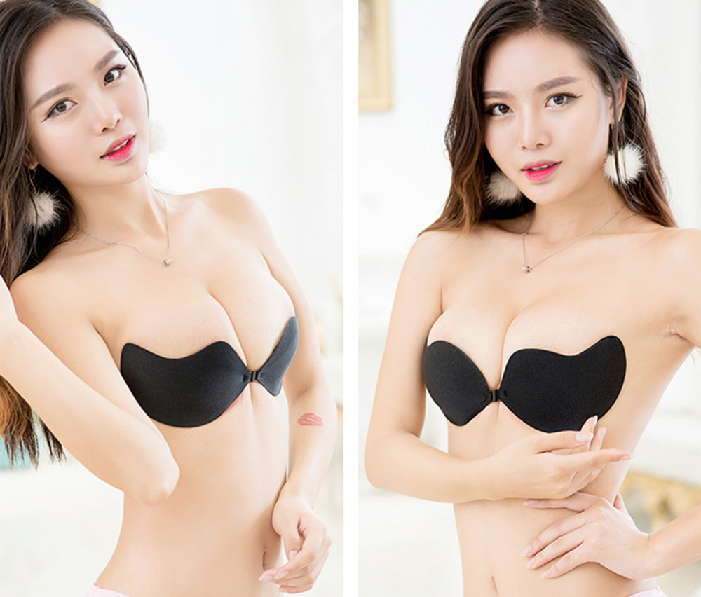 038c1f35ba1c5 Fly Bra Strapless Silicone Push Up Invisible Bra Self Adhesive Backless  Bralette Plus Size Seamless Bras ...