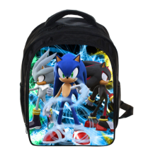 13 Inch Anime Sonic Super Mario Backpack Students School Bags Boys Girls Daily Backpacks Children Bag Kids Best Gift