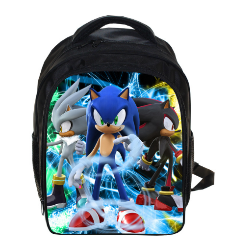 13 Inch Anime Sonic Super Mario Backpack Students School Bags Boys Girls Daily Backpacks Children Bag Kids Best Gift Backpack 13 inch kids backpack monster high children school bags girls daily backpacks students bag mochila gift