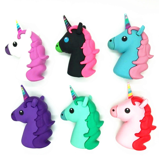High Quality Unicorn PowerBank External Emergency USB 2600mAh Colorful  White Horse Power Bank Charger For I7 b08bd041b